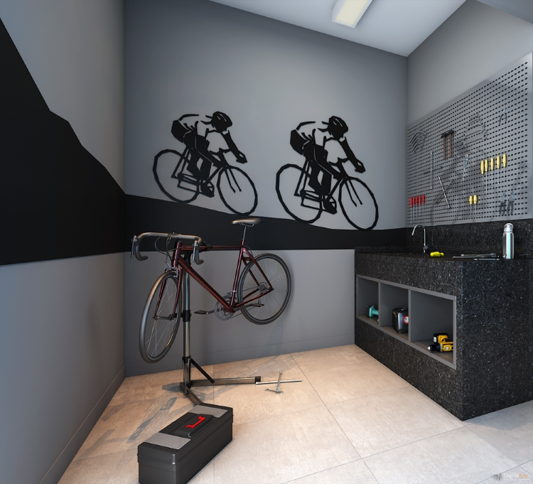 Bike Space e reparo apartamento IS MOEMA